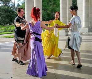 Greek circle dance Meg and Hercules