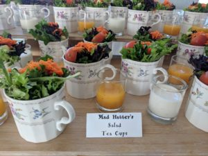 Mad Hatter's Salad teacups