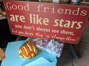 Good friends are like stars wedding quote