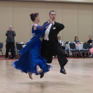 Quickstep ballroom dance