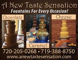 Chocolate cheese and caramel dipping fountain