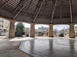 Inside historic Elitch Carousel shell