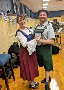 Oktoberfest polka dancers