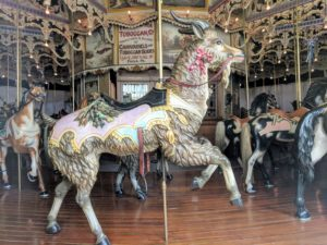 Original Elitch Gardens carousel goat