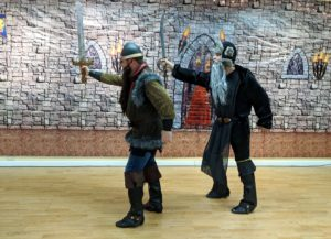 Two battle LOTR Dwarves