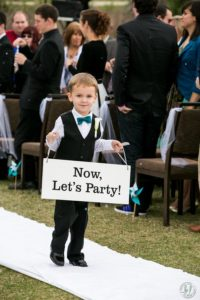 lets party Wedding sign