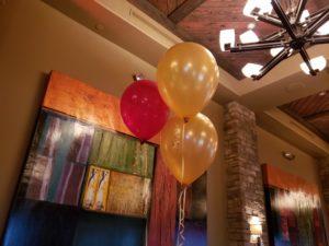 Mother son balloons