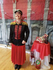 Nutcracker Clara in military dress