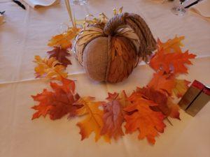 mother son fall pumpkin