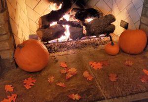 mother son pumpkins