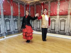 spanish waltz begin side by side