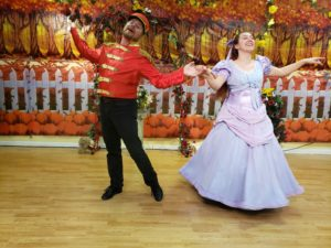 nutcracker and Clara dance out waltz
