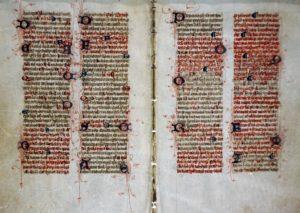 Ancient illuminated text