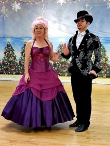 Sugar Plum Fairy and Prince ready to dance