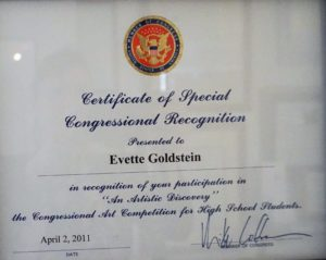 pretty writing certificate of congressional recognition