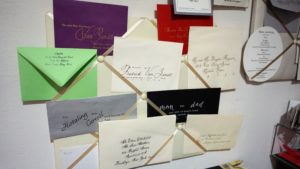 envelopes by evette pretty writing