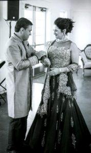 indian wedding b w
