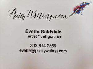 pretty writing Evette