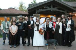 steampunk fairy fantasy wedding party