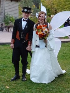 steampunk groom Fairy Bride