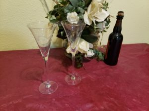 wedding ceremony champagne glasses drinks