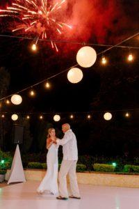fireworks wedding dance