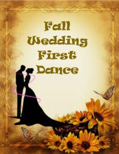 fall wedding frist dance