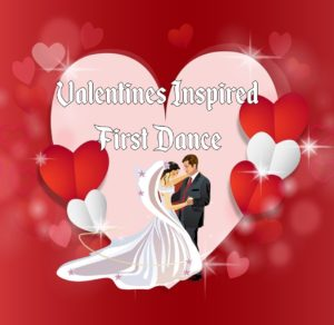 valentines inspired wedding dance